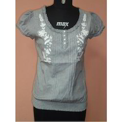 Shortsleeve Embroidery Top