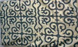 Grey Italian Design Block Printed Fabric