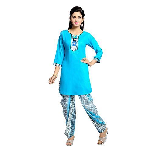 Blue Patiala Suit