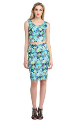 Cottinfab Women's Floral Printed Dress