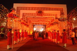 Flower Chhattar Wedding Decoration