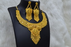 1gram Gold Plated Fancy Necklace