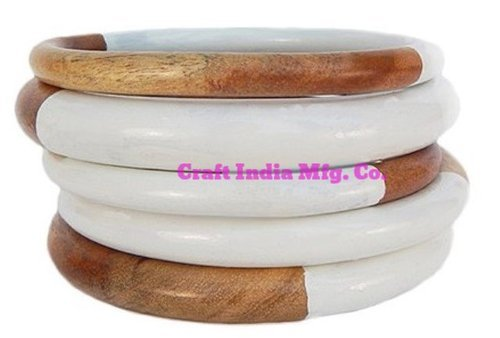 Resin-Wood Bangles Set