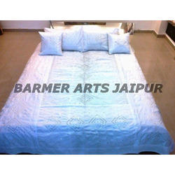Stylish Bed Cover Mirror Work