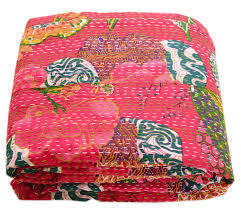 Tropical Reversible Kantha Quilt