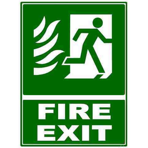 Fire Exit Sign Board Manufacturer From Navi Mumbai