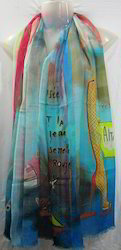 Modal Printed Silk Shawls