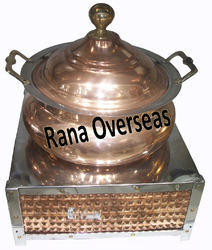 Square Base Copper Steel Chafing Dish