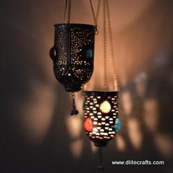 Glass Metal Hanging Lamps