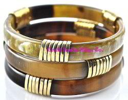 Horn-Brass Designer Bangles