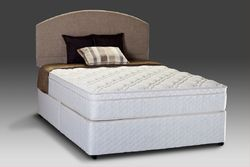 natural latex with 2 memory foam euro top mattress for bed