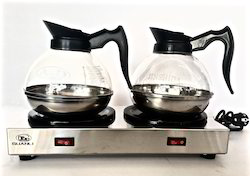 Double Hot Plate Tea, Coffee, Milk Carafe