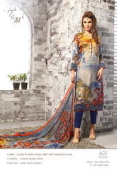 Gorgeous Looking Heavy Cotton Satin Designer Suit