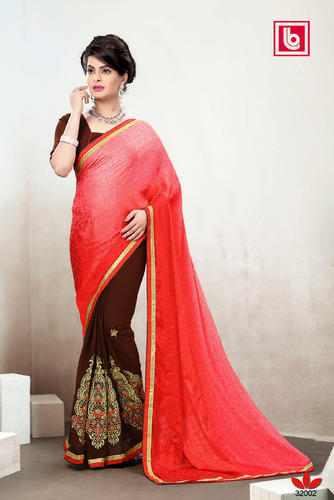 Fancy Latest Designer Embroidery Work Sarees