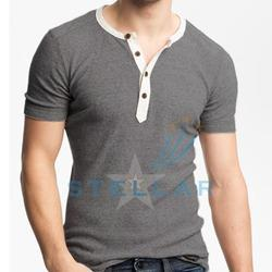 round neck henley t shirt
