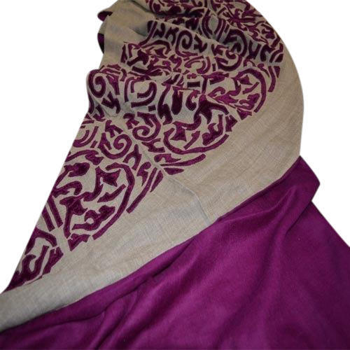 Designer Velvet Applique Scarves