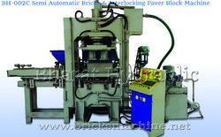 semi automatic bricks interlocking paver block machine
