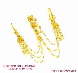 Designer Polki Earring with Jhumka