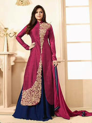 Semi Stitched Long Anarkali Suits