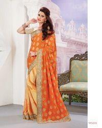 Trendy Embroidery Designer Saree