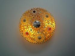 Glass Yellow Mosaic Ceiling Lamp