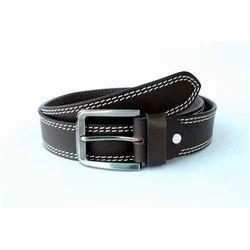 Mens Semi-Formal Brown Leather Belt