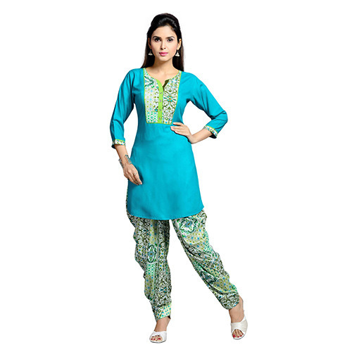 Aqua Blue Patiala Suit