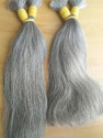 Grey Indian Temple Human Hair