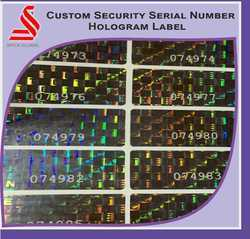 Custom Security Holographic Serial Number Hologram Stickers