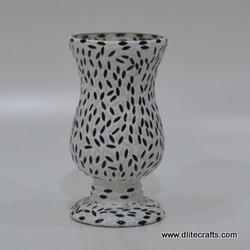 Glass Mosaic Hurricane Lamp