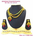 Designer Side Pendant Necklace Set