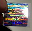 Authentic Membrobilia Holograms Label Stickers