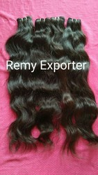 Natural Wavy Hair Machine Weft