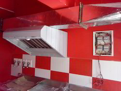 Commercial Exhaust Hood with Filters