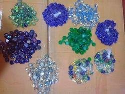 Button Type Glass Pebbles