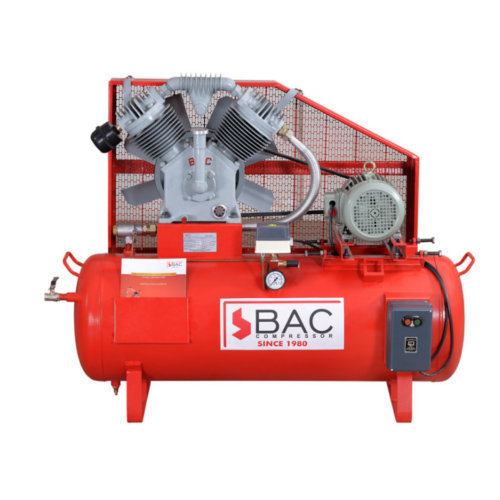 BAC Make Two Stage Twin Cylinder Air Compressor BAC-ETS-300
