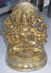 Brass Panchmukhi Hanuman Idol