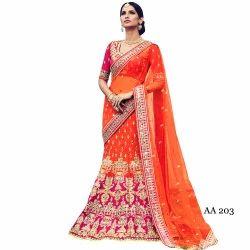 Plain Net Saree