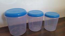 Three Plastic Container Set