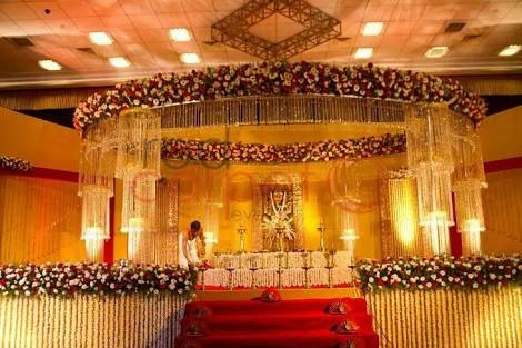 Crystal decoration for wedding mandap decoration from hyderabad mandap decoration junglespirit Image collections