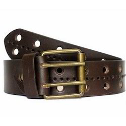 Mens Fancy Brown Leather Belt