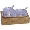 Gold and Silver Plated Brass Bowl Sets