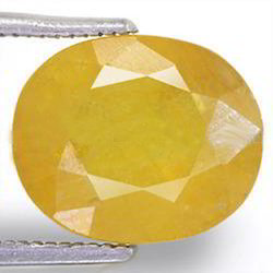 7.04 Carats Yellow Sapphire
