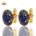 Blue Sapphire Diamond Men's Cufflinks