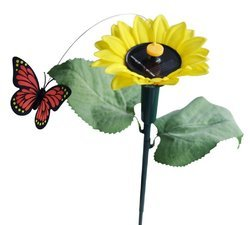 kawachi solar fluttering butterfly with sunflower panel