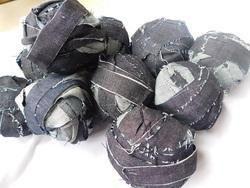 Denim Ribbon In Balls Of 100 Gram Weight Made From Deinim