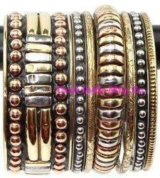 Brass-Copper  Ethnic Bangles