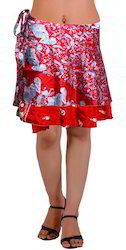 Multicolor Short Wrap SKirt