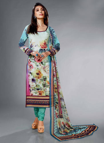 Find Latest Printed Crepe Silk Salwar Suit at Rs. 1349/piece from