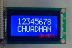 CH0802- 8x2 Character LCD Module - Blue White